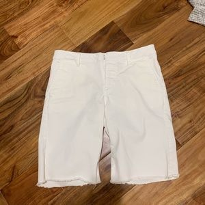 "Sanctuary White Bermuda Shorts-""cut off"" style"